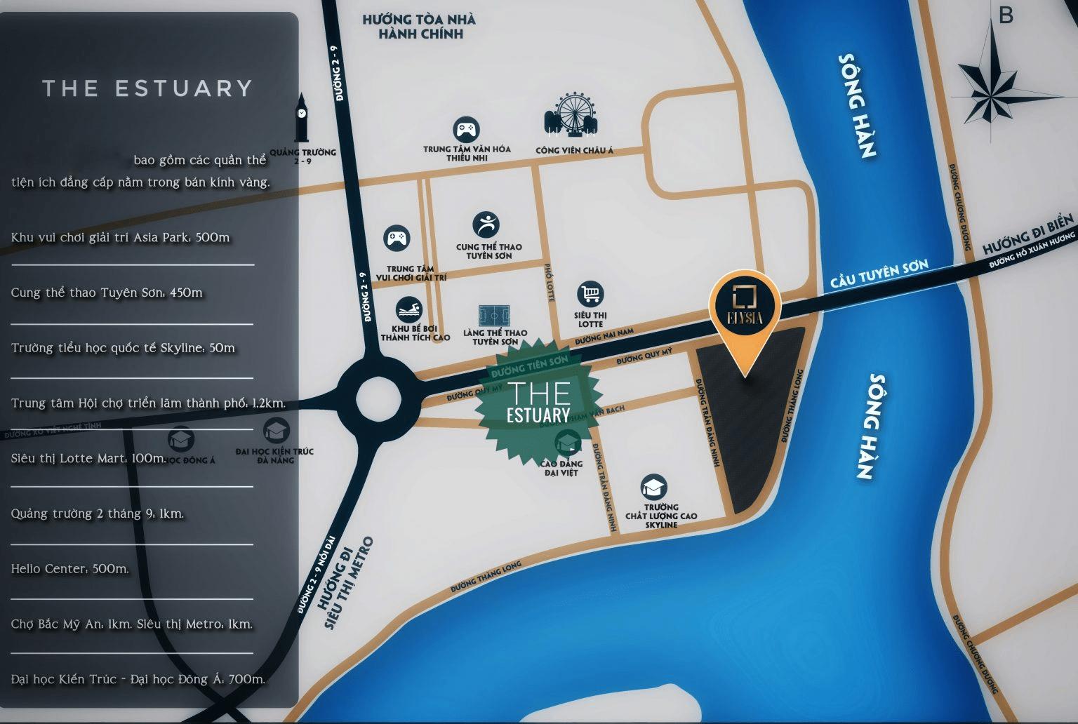 Vị trí Dự Án Căn Hộ The Estuary Đà Nẵng